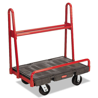 A-Frame Panel Truck, 2000-lb Cap, 24 1/4w x 36d x 43h, Black/Red