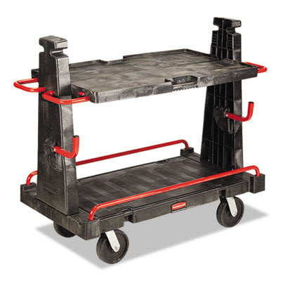A-Frame Panel Convertible Truck, 2000lb Cap, 27 1/4 x 50 1/4 x 49 1/2, Black/Red