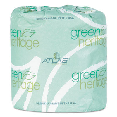 Green Heritage Toilet Tissue, 3 1/8 x 4 1/10 Sheets, 2Ply, 400 Sheets/Roll