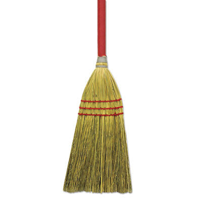 "Corn/Fiber Lobby Brooms, 48"", Gray/Natural"