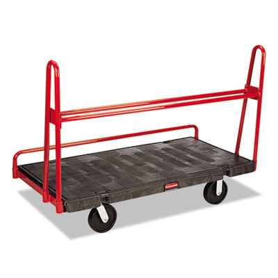 A-Frame Panel Truck, 2000-lb Cap, 30 1/4w x 60d x 45h, Black/Red