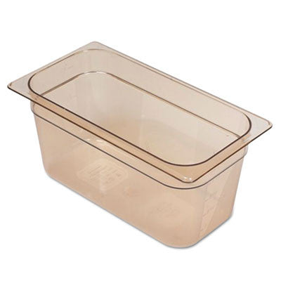 Hot Food Pans, 5 3/8qt, 6 7/8w x 12 4/5d x 6h, Amber