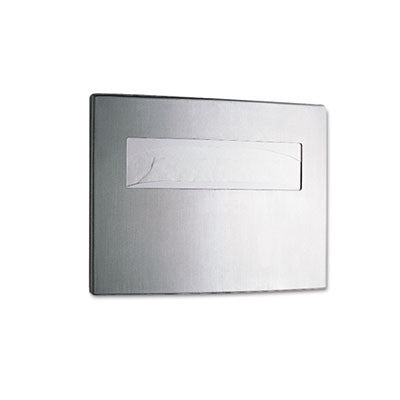 Toilet Seat Cover Dispenser, 15 3/4 x 2 1/4 x 11 1/4, Stainless Steel