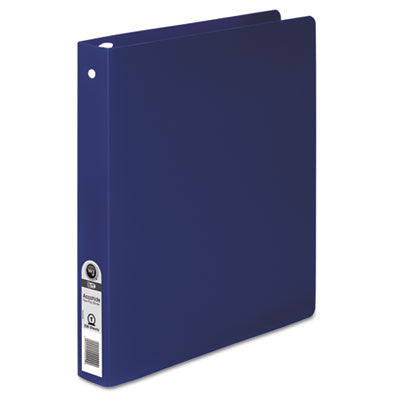 "ACCOHIDE Poly Round Ring Binder, 1"" Cap, Dark Blue"