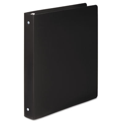"ACCOHIDE Poly Round Ring Binder, 1"" Cap, Black"