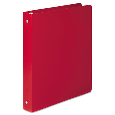 "ACCOHIDE Poly Round Ring Binder, 1"" Cap, Executive Red"