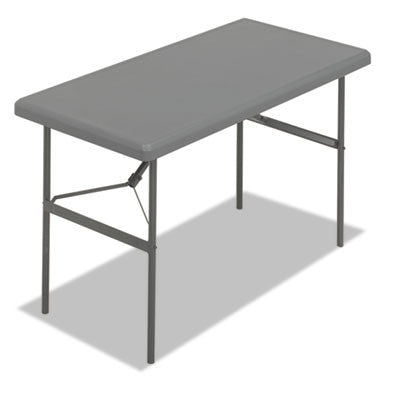 IndestrucTable TOO 1200 Series Resin Folding Table, 48w x 24d x 29h, Charcoal