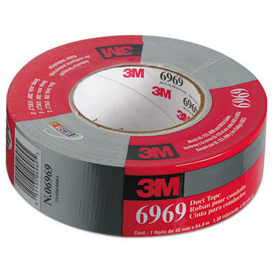 "Extra-Heavy-Duty Duct Tape, 48mm x 54.8m, 3"" Core, Silver"