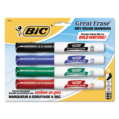 Great Erase Grip Chisel Tip Dry Erase Marker, Assorted