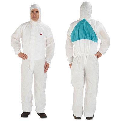 Disposable Protective Coveralls, White, Large