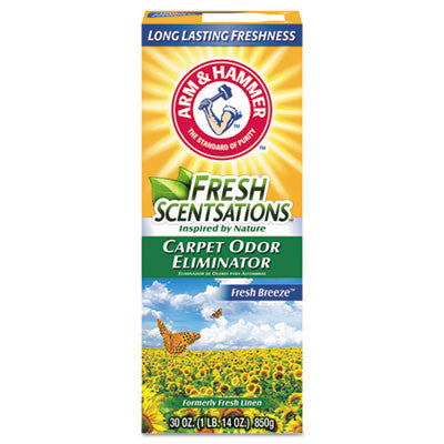 Fresh Scentsations Carpet Odor Eliminator, Fresh Breeze, 30oz Box
