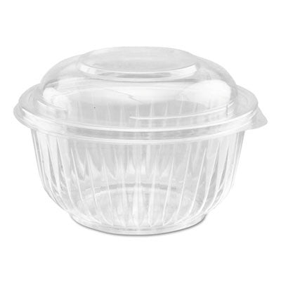 PresentaBowls Bowl/Lid Combo-Paks, 16oz, Clear, 63/Pack