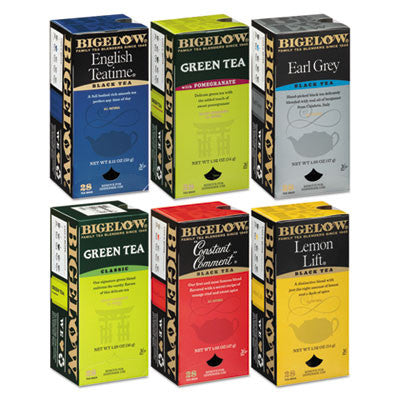 Assorted Tea Packs, Six Flavors, 28 Bags Of Each Flavor