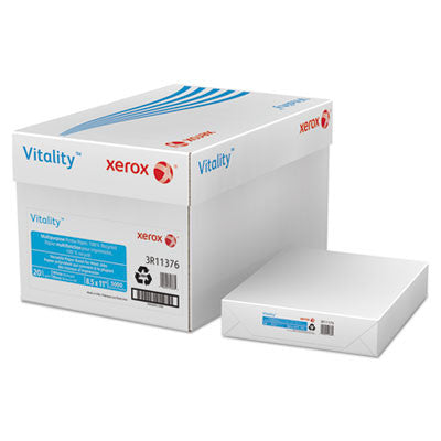 Vitality 100% Recycled Multipurpose Printer Paper, 8-1/2 x 11, White 5000 Sheets