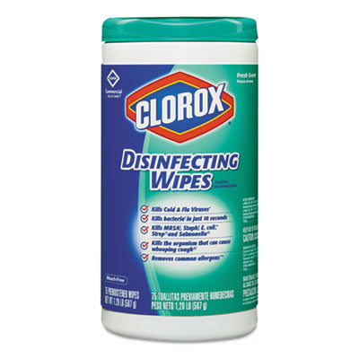 Disinfecting Wipes, 7 x 8, Fresh Scent, 75/Canister