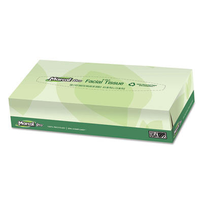 100% Recycled Convenience Pack Facial Tissue, White