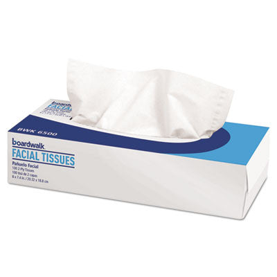 Facial Tissue, Flat Box, 2-Ply