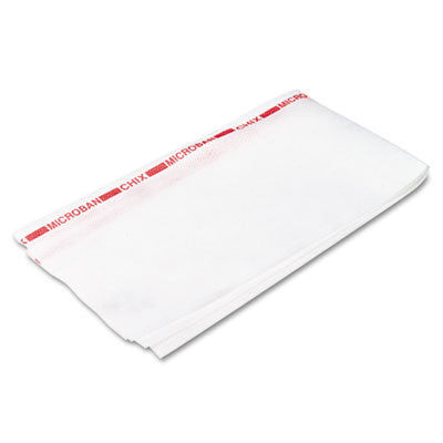 Reusable Food Service Towels, Fabric, 13-1/2 x 24, White