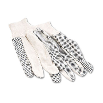 Men's PVC Dotted Canvas Clute Gloves, One Size, Pair