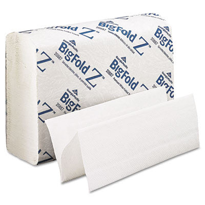 BigFold Paper Towels, 10 1/5 x 10 4/5, White, 220/Pack