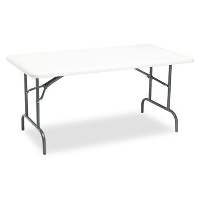 IndestrucTable TOO 1200 Series Resin Folding Table, 60w x 30d x 29h, Platinum