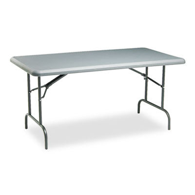 IndestrucTable TOO 1200 Series Resin Folding Table, 60w x 30d x 29h, Charcoal