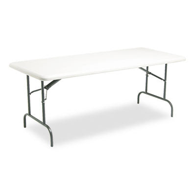 IndestrucTable TOO 1200 Series Resin Folding Table, 72w x 30d x 29h, Platinum