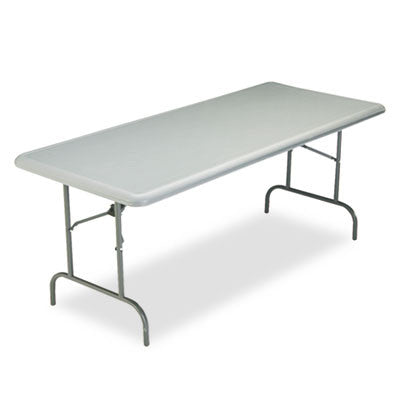 IndestrucTable TOO 1200 Series Resin Folding Table, 72w x 30d x 29h, Charcoal
