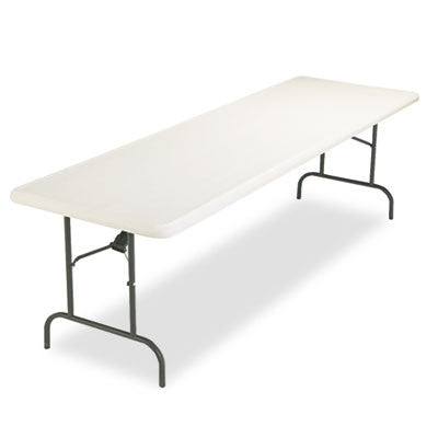 IndestrucTable TOO 1200 Series Resin Folding Table, 96w x 30d x 29h, Platinum
