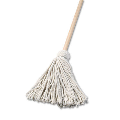 "Deck Mop, 48"" Wooden Handle, 16-oz Cotton Fiber Head"
