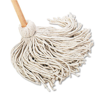 "Deck Mop, 54"" Wooden Handle, 20-oz. Cotton Fiber Head"