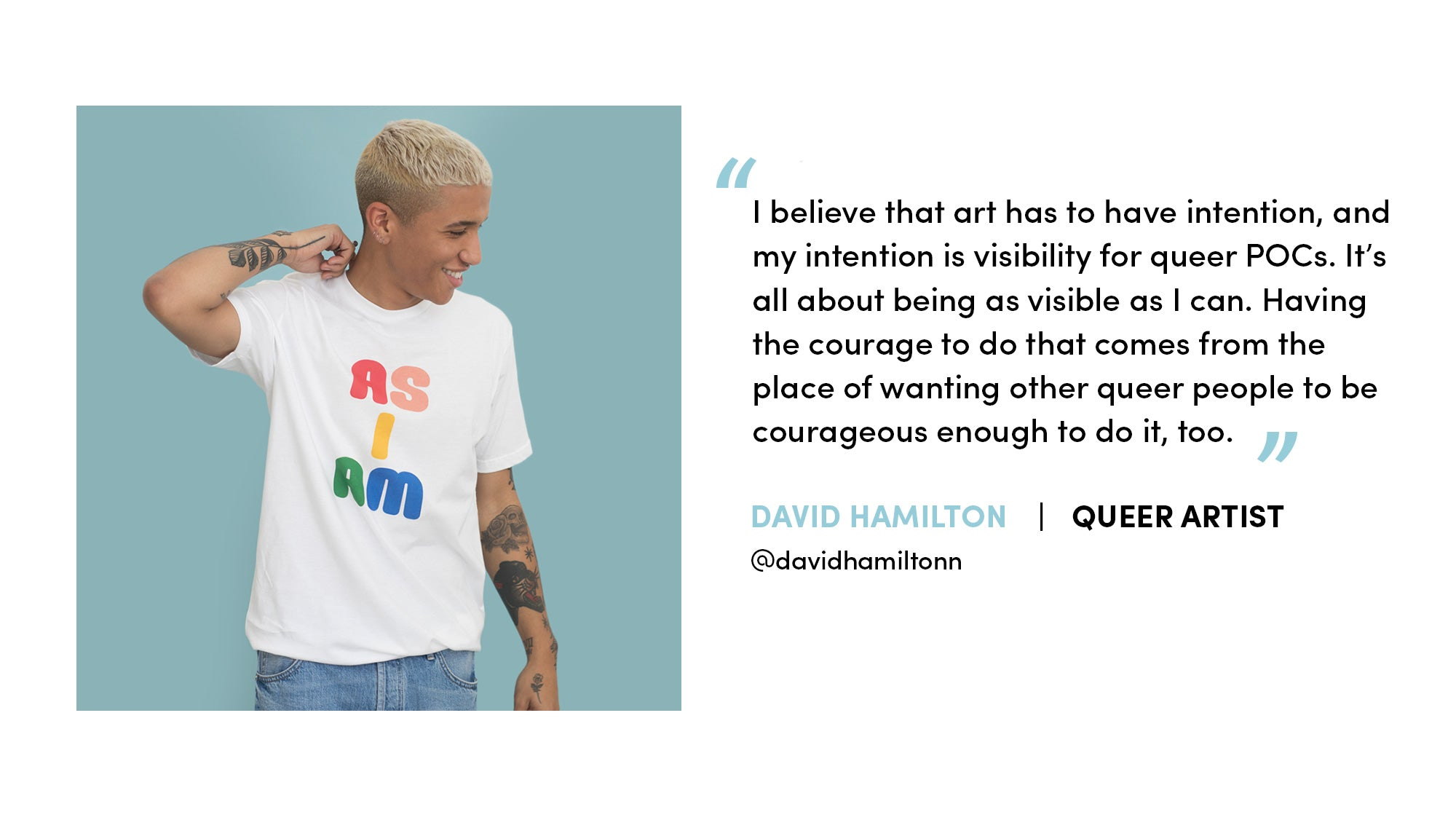 David Hamilton photo and quote