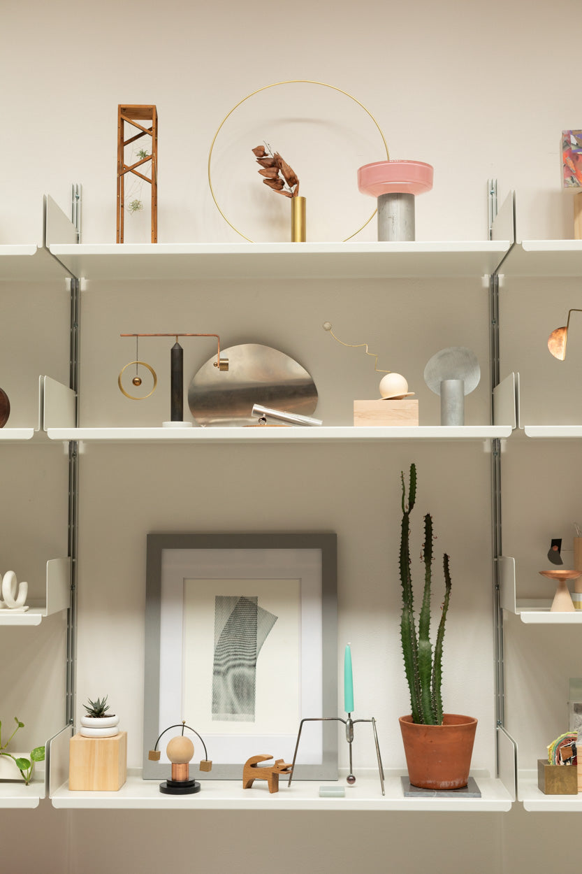 shelves that line their home, filled with inspiration and magic.