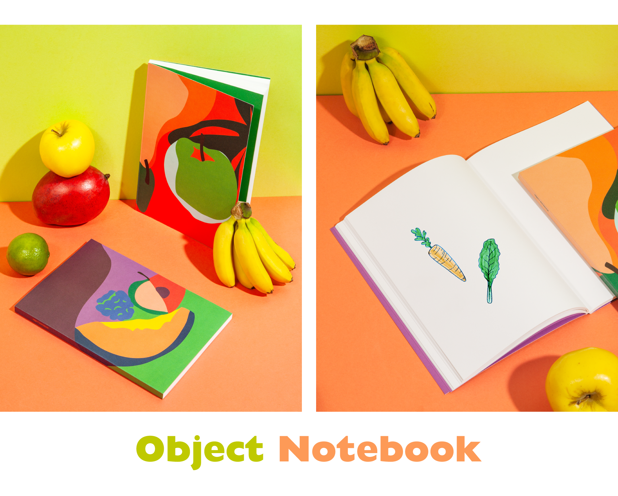 fruit blank notebooks