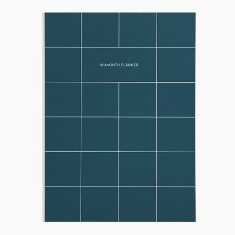 18-Month Planner in Teal