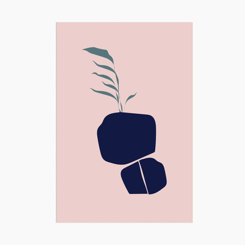 poketo abstract flora postcard boulder plant modern
