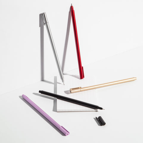 Apex Pens in Metallic Red Gold Pink Black SIlver