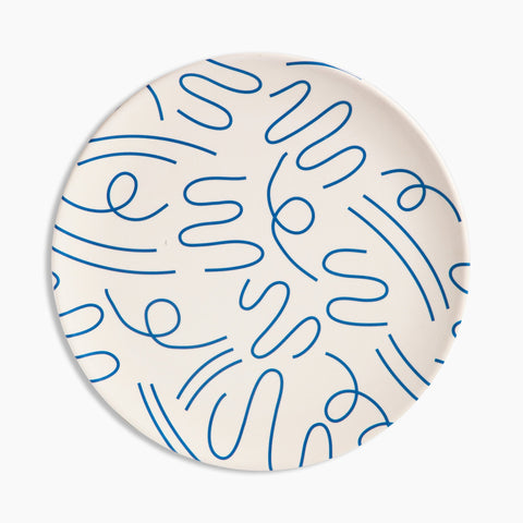 Bamboo Dinner Plate Set in Doodle