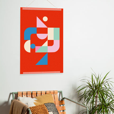 Bauhaus Poster Print by Poketo in Shapes in Motion