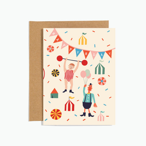 Circus Birthday Card