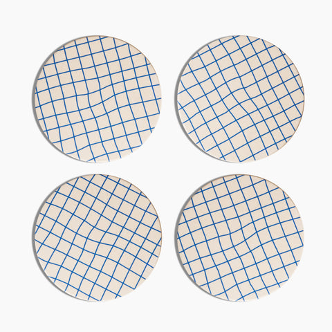 Bamboo Coasters in Grid Set of 4