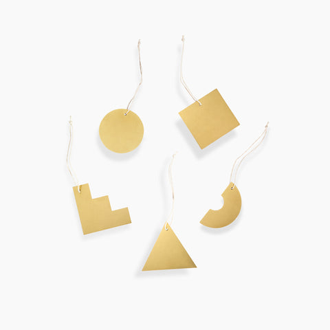 Brass Shapes Wall Hanging Set of 5