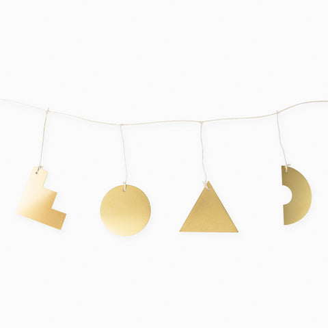 Brass Shapes Garland