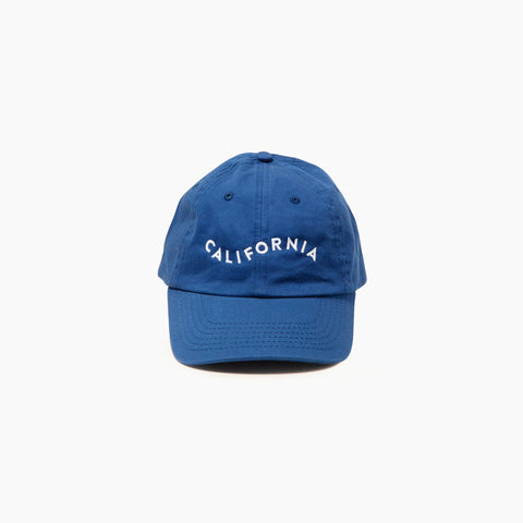 California Cap in Blue Front of Cap
