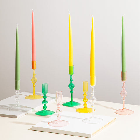 Taper Candles in Pink