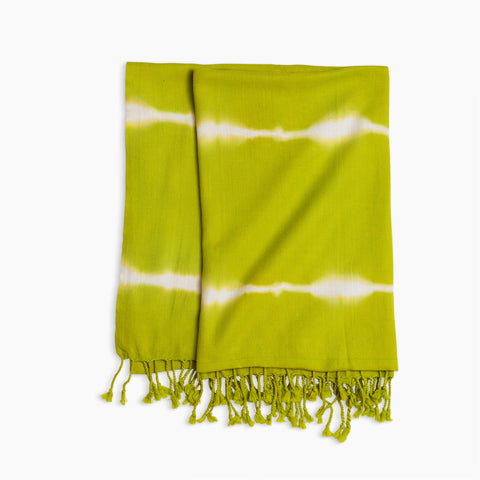 Turkish Towel in Lime Green Tie-Dye