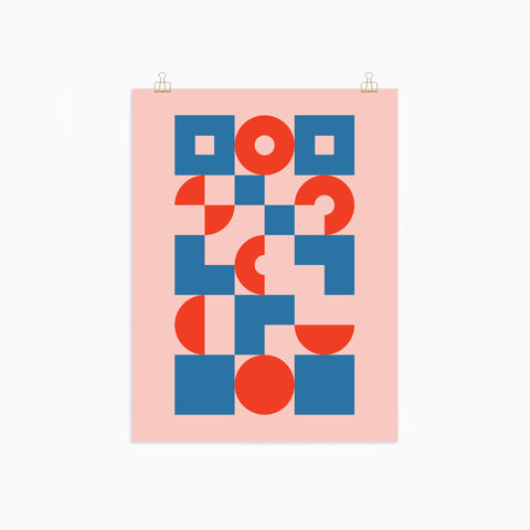 Bauhaus Poster Print by Poketo in Circles and Squares