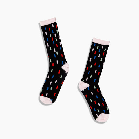 Poketo Crew Sock in Color Swatch Blank Red Blue Green Pink