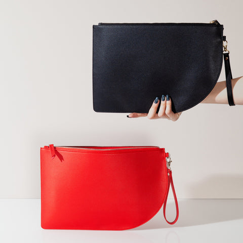 Curve Clutches in Red and Black