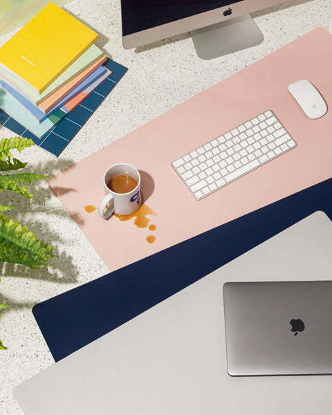 Minimalist Desk Mat in Gray